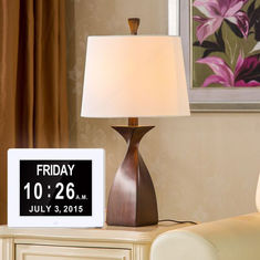 La video lampadina LCD USB dello schermo di Hd dell'orologio di giorno dell'opuscolo del calendario a 8 pollici di Digital sonnecchia